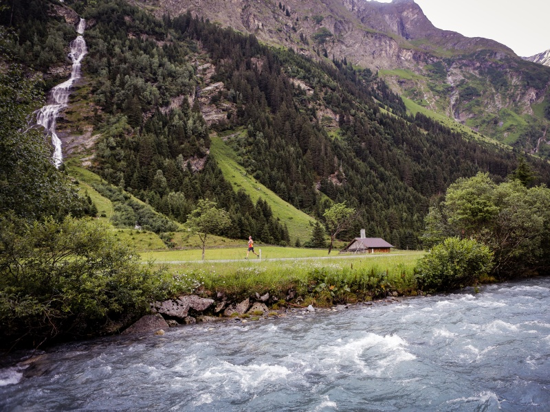 Pitztaler Arche Fluß Berg Wasserfall Läufer