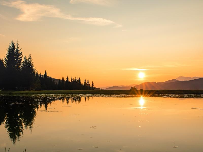 Hochnösslersee Sonnenuntergang