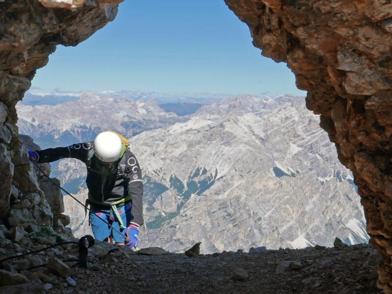 Bergsteiger am Seil