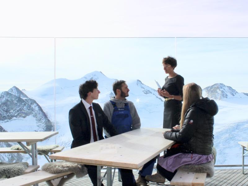 5 Personen Terrasse Berghütte