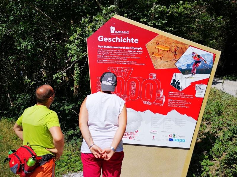 Geschichtstafel Biathlon Hochfilzen
