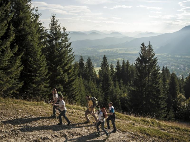 Wandergruppe Weg zur Denkalm Lenggries