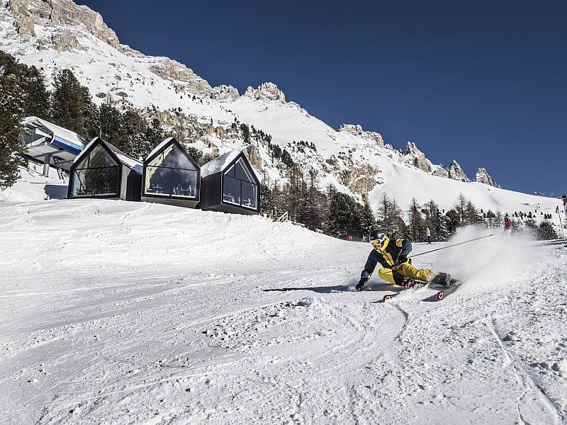 Berghütte Oberholz Skifahrer