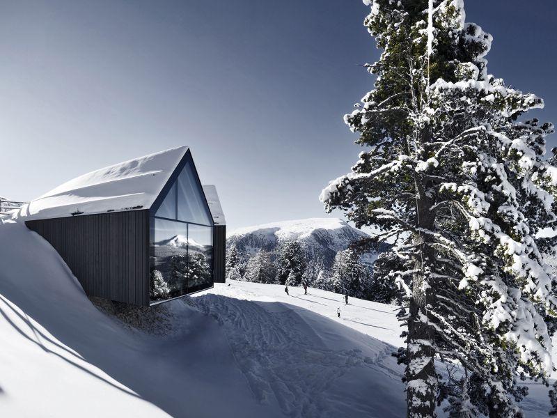 Berghütte Oberholz im Winter