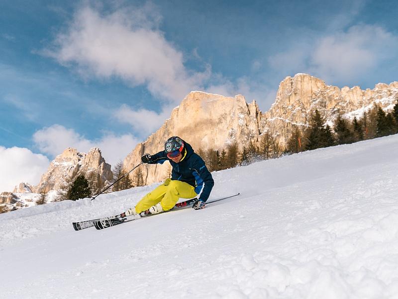 Skifahrer Rosengarten