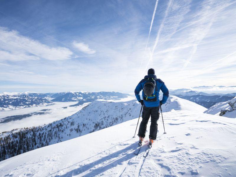 Skifahrer Sportberg Goldeck