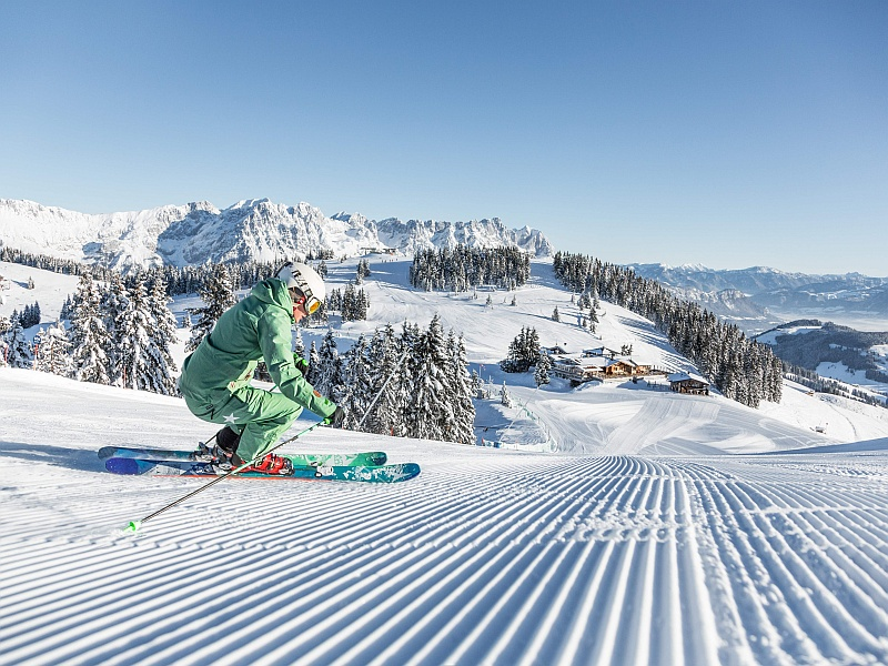 Skifahrerin Hohe Salve