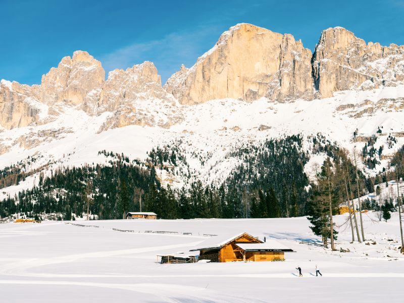 Langlaufloipe Dolomiten Hütte