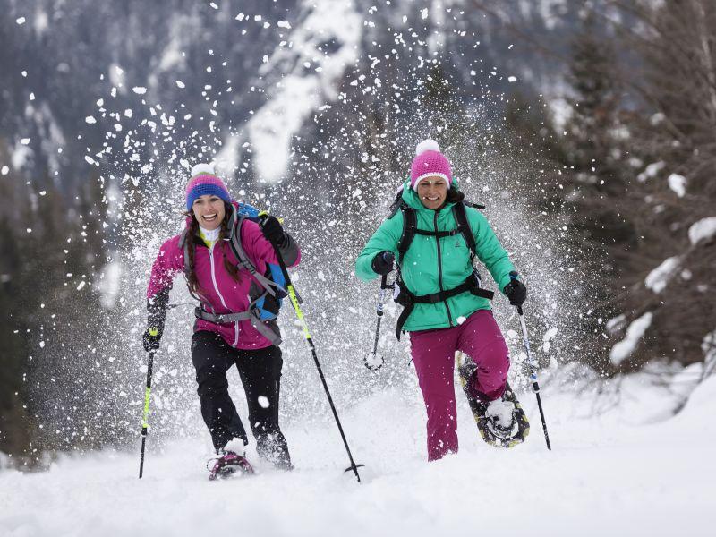 2 schneeschuhwanderer