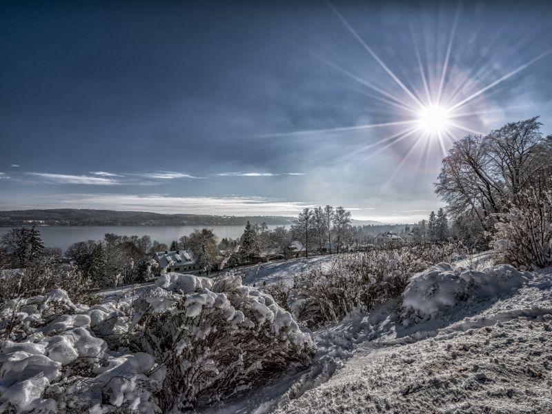 Winterlandschaft Starnberger See