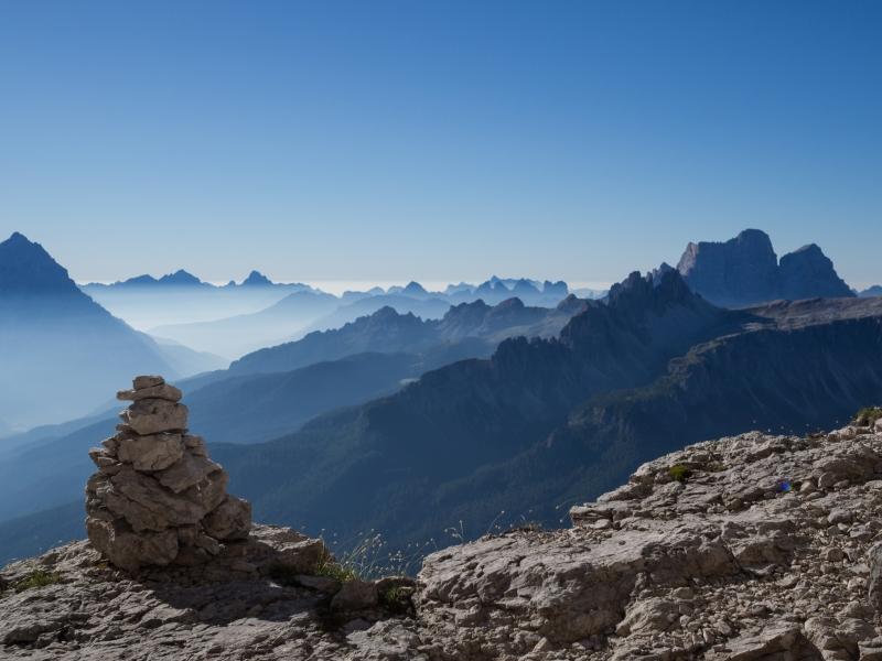 Aussicht auf Dolomiten