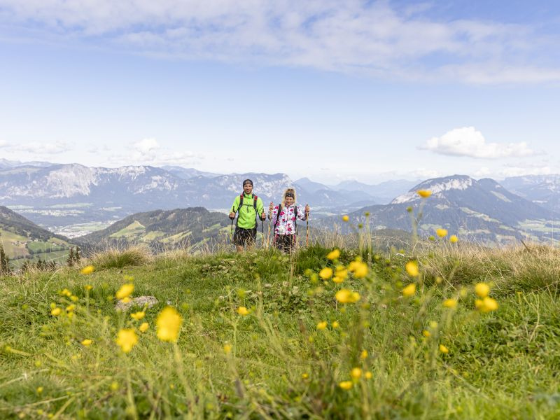 Wildschönau 2 Wanderer Blumenwiese
