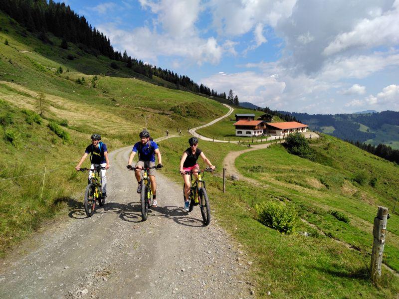 2 Mountainbiker mit Guide