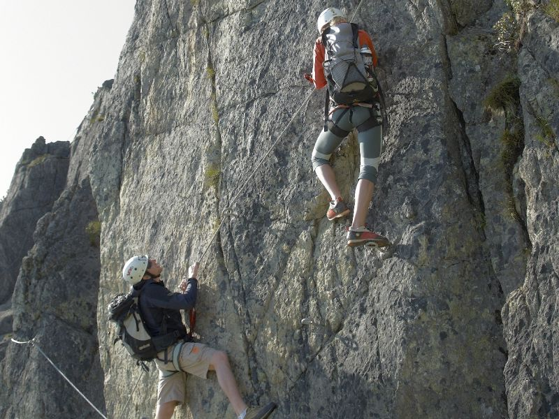 2 Kletterer Fieberbrunn